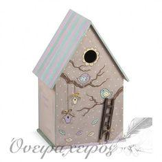 """""""ΔΕΝΤΡΟΣΠΙΤΟ ΠΟΥΛΑΚΙΑ"""" σετ βάπτισης με Ξύλινο μπαούλο δεντρόσπιτο ζωγραφισμένο στο χέρι Bird, Outdoor Decor, House, Home Decor, Decoration Home, Home, Room Decor, Birds, Home Interior Design"""