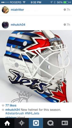 Hutch's new mask 2014-2015