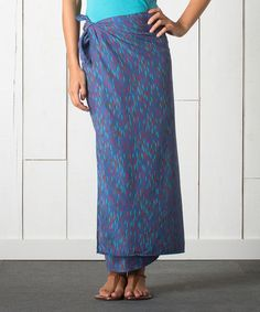 Another great find on #zulily! Dusty Indigo Ripple Pareo Organic Wrap Skirt #zulilyfinds