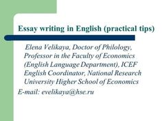 about english language essay Essay writing in English (practical tips) Elena Velikaya, Doctor . Essay Writer, Narrative Essay, Essay Writing Examples, Problem Solution Essay, University High School, History Essay, Paper Writing Service, Myself Essay, Essay Questions