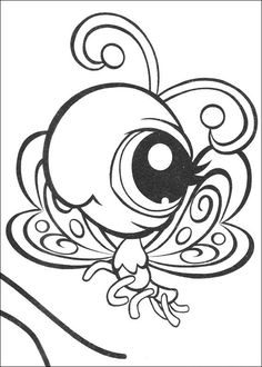 Colouring in pages Littlest Pet Shop great to use for