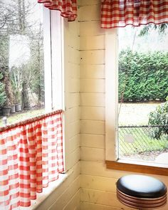 Image result for red gingham cafe curtains