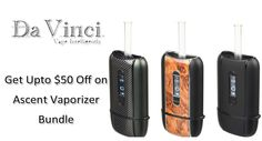 At DaVinci Vaporizer, they are offering upto $50 discount on Ascent Vaporizer Bundle. Order now and avail this offer. For more DaVinci Vaporizer Coupon Codes visit: http://www.couponcutcode.com/stores/davinci/