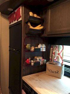 Easy and Cheap RV Camper Organization Travel Trailers Ideas - roomodeling Van Storage, Trailer Storage, Camper Storage, Storage Hacks, Storage Solutions, Storage Ideas, Trailer Decor, Smart Storage, Garage Storage