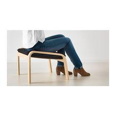 POÄNG Footstool - Alme black, birch veneer - IKEA