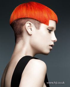 Orange crop with undercut    Hairstyle by: Mark Leeson  Hairstyle picture by: Andrew O'Toole  Salon: Mark Leeson Hair, Body & Mind  Location: Mansfield