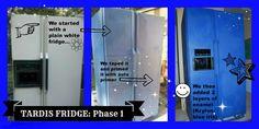 TARDIS FRIDGE Phase 1 by sarahredhead.deviantart.com on @deviantART