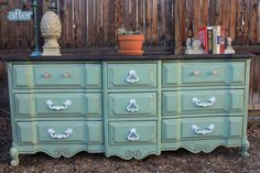 Remember that one time when I went on a rant about the dreaded double-knob? Ok, well pretend that never happened. Because today I am here to show you this beautiful aqua dresser from Pelham, and lo! Double knobs. But, no joke you guys, I think they look great. In fact, I was so enamored of …