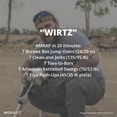 """""""Wirtz"""" WOD - AMRAP in 20 minutes: 7 Burpee Box Jump Overs in); 7 Clean-and-Jerks lb); 7 Toes-to-Bars; 7 Plyo Push-Ups lb plate) Kettlebell Challenge, Kettlebell Cardio, Kettlebell Training, Kettlebell Swings, Kettlebell Benefits, Burpee Box Jumps, Wods Crossfit, Tuck Jumps, Functional Training"""