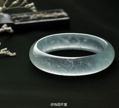 almost transparent, amazing jade bracelet. Jade Stone Jewellery, Jade Jewelry, Jade Bracelet, Bangle Bracelets, Bangles, Engraved Plates, Beautiful Rings, Women Accessories, Jewelery