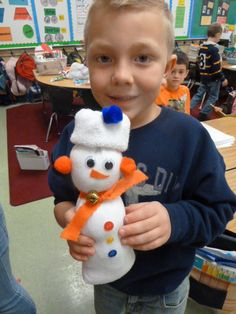 Sock Snowman Easy Gift for Students to make!