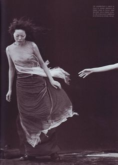 Fernanda Tavares by Peter Lindbergh … A windy summer, Vogue Italia, May 1999…