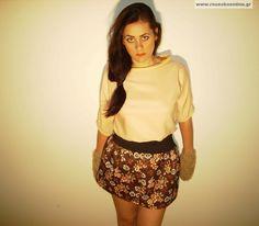 Φούστα καφέ με χρωματιστά λουλουδάκια Boho Shorts, Internet, Stuff To Buy, Women, Fashion, Moda, Fashion Styles, Fashion Illustrations, Woman