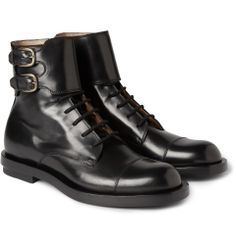 Gucci Buckled Leather Boots | MR PORTER