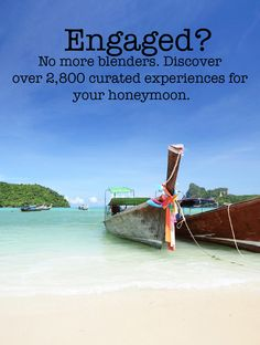 Engaged? Wanderable is the only honeymoon registry that has over 2,800 curated experiences in 189 different cities, around the world. No more blenders!