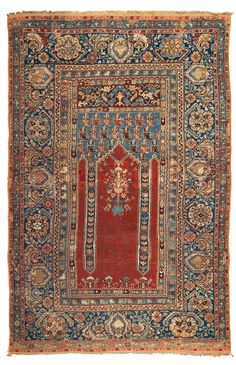 A Koula rug West Anatolia late 18th early 19th century cm 194x130. Sides not originally, some repairs ... SCHAFFHAUSEN
