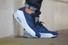 best loved 3acd9 1c492 Nike Air Max 90 Ultra Moire Obsidian  Obsidian- Pure Platinum - 819477-404