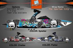 Boat Wraps | Marine Vinyl Graphics | Wake Graphics Sanger Boats, City H, Boat Wraps, How To Wrap Flowers, Boat Building Plans, Fish Drawings, Rough Riders, Boat Painting, Boat Stuff
