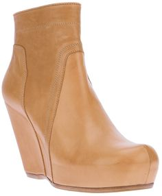 ***Rick Owens Wedge boot $1,512.00 thestylecure.com