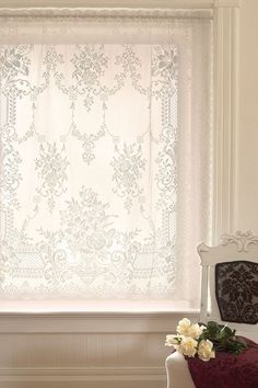 Downton Abbey Aristocrat Collection Lace Valance ~ Heritage Lace