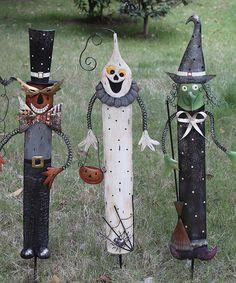 Another great find on #zulily! Deco Halloween Garden Stake Set #zulilyfinds