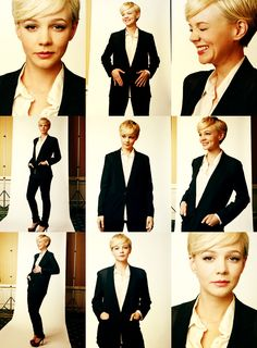 Carey Mulligan is ever so sleek and stylish with her pixie. Pixie Hairstyles, Pixie Haircut, Trendy Hairstyles, Short Pixie, Short Hair Cuts, Pixie Cuts, Pixie Styles, Short Hair Styles, Hair Inspo