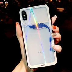 USLION Glitter Laser Glass For iPhone Case,Cartoon Phone Cases for iPhone X 8 7 Plus Flamingo Dolphin Flower Pattern Clear Cover Outfit Accessories From Touchy Style Animal Phone Cases, Girly Phone Cases, Iphone Phone Cases, Iphone 4, Galaxy S3, Iphone 7 Plus, Ipod Touch, Flamingo Phone Case, Nintendo 3ds
