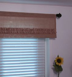 Ruffled Burlap Valance Natural& Tan Burlap by supplierofdreams Beige Curtains, No Sew Curtains, Elegant Curtains, Shabby Chic Curtains, Drop Cloth Curtains, Green Curtains, Floral Curtains, Rustic Curtains, Hanging Curtains