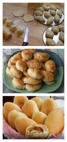 Такие пирожки с капустой готовила еще моя мама - lucheedlavas.ru Hamburger, Pancakes, Bread, Breakfast, Desserts, Food, Morning Coffee, Tailgate Desserts, Deserts
