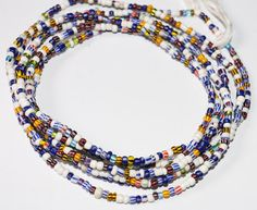 Multicolor Waist Beads Waist Beads African Waist by AfrowearHouse