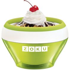 Zoku Ice Cream Maker - Green (1.580 RUB) ❤ liked on Polyvore featuring home, kitchen & dining, green and zoku