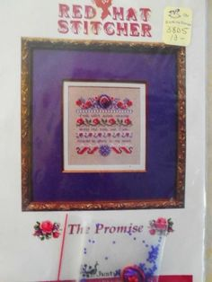 JUST NAN RED HAT STITCHER THE PROMISE Cross Stitch w/Embellishment and Beads #JustNan
