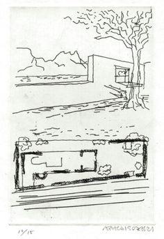 Le Corbusier, Architecture Sketchbook, Modern Architecture, Pierre Jeanneret, Copic Sketch, Gio Ponti, Famous Architects, Conceptual Design, Villa