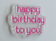 New for Scrapbooking and Rubber stamping Clear Acrylic Stamp By Fiskars Word #3 Happy Birthday to You by YourScrapbookingShop on Etsy