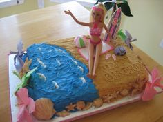 barbie surfboard cake | Beach Barbie Cake — Children's Birthday Cakes