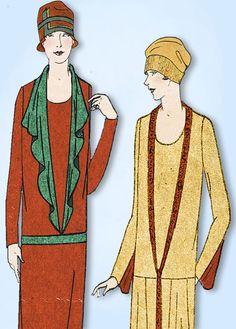 1920s VTG Ladies Home Journal Sewing Pattern 4914 Uncut Womens Flapper Dress 38B #LadiesHomeJournal #FlapperFrock