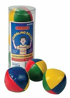 Classic Kids Juggling Balls by Schylling. $5.95. Includes: (3) balls, instructions