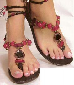 sandalias para la playa hermosos