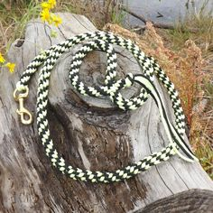 Glow in the Dark paracord leash made with love