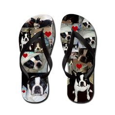 I Love Boston Terriers!!! New custom Flip Flops for the Boston Luv-R