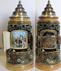 Oktoberfest Scene with Opening Door LE German Beer Stein L Made in Germany, Silver German Beer Mug, German Beer Steins, German Oktoberfest, Oktoberfest Beer, I Like Beer, Beer Company, Beer Mugs, Beer Lovers, Black Forest
