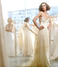 CLOISONNE couture bridal gown by Claire Pettibone