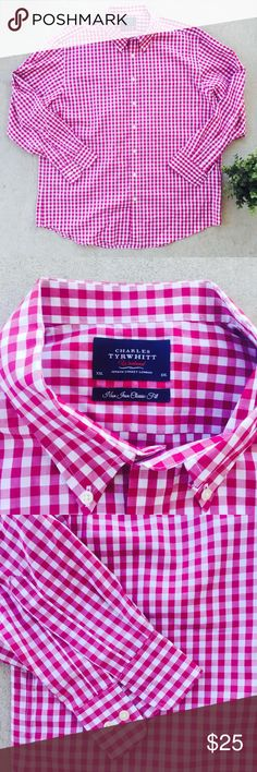 Charles Tyrwhitt Weekend Men's Long Sleeve Charles Tyrwhitt Weekend Men's Long Sleeve Non Iron Classic Fit Red Plaid  Size XXL  100% cotton  Preowned good used condition charles tyrwhitt Shirts Casual Button Down Shirts