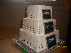- Classic car photo cake Gumpaste frames on edible images