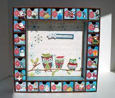 Advent Calendar Christmas Owls  Wooden Advent by AuriesDesigns, $65.00