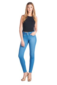Parkers Jeans - High Waisted Double Button Blue Skinny Jean  #denim #highwaisted #skinny #jeans #spring #lookbook #parkersjeans