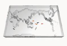 Takuro Yamamoto Architects Design Glass Aquarium Shaped like the Map of the World
