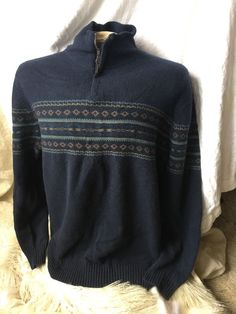 NWT JOSEPH ABBOUD Mens 100% Cashmere 1/2 Zip Sweater Blue Sz XL Sexy!  | eBay