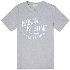 Maison Kitsuné Palais Royal Tee (Light Grey Melange & White)