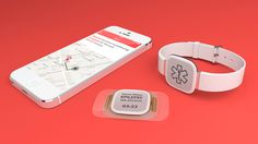 """Dialog. """"Concept designed to help people with #epilepsy gain a deeper understanding of their condition and make better decisions about their care.""""  Wearable module collects range of meaningful data; app provides insights into factors that trigger events or lower thresholds; platform connects to family and caregivers or educates bystanders in cases of emergency.  From Artefact"""
